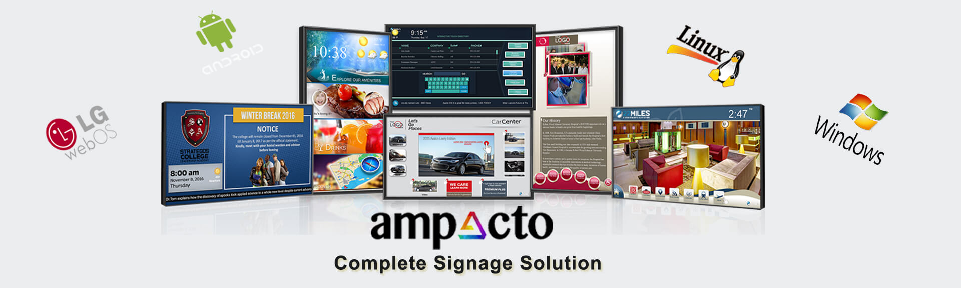 Ampacto Complete Digital Signage Solution India