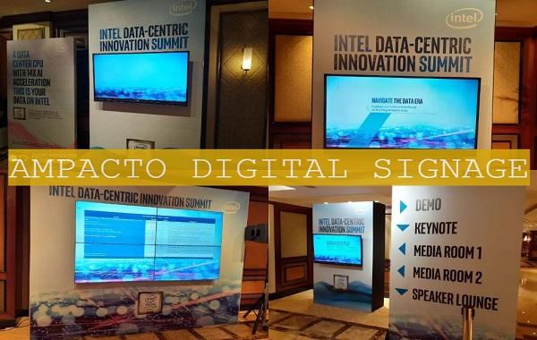 Web Based Digital Signage at Intel Summit Taj Lands Mumbai